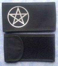 Pentacle Black/Silver Printed Wrap Armband